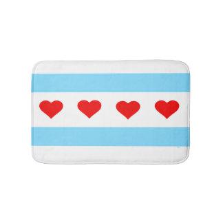 Badmatta för Chicago hjärtaflagga Badrumsmatta