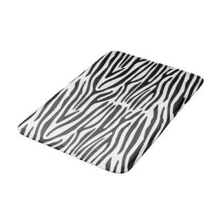 Badmatta för tryck för svart vitzebra ränder djur badrumsmatta