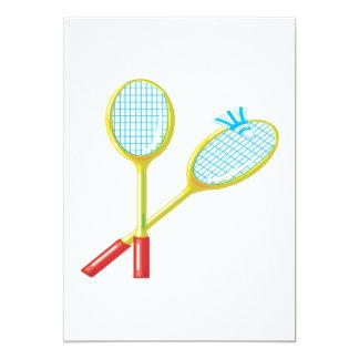 Badminton 3 12,7 x 17,8 cm inbjudningskort