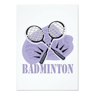 Badminton 5 12,7 x 17,8 cm inbjudningskort