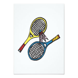Badminton 8 12,7 x 17,8 cm inbjudningskort