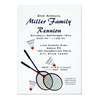 Badminton för trädgårdpicknickGames/ 12,7 X 17,8 Cm Inbjudningskort