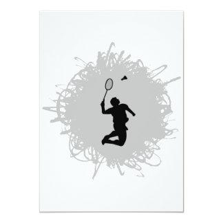 Badminton klottrar stil 12,7 x 17,8 cm inbjudningskort