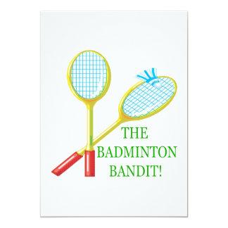 Badmintonbanditen 12,7 X 17,8 Cm Inbjudningskort