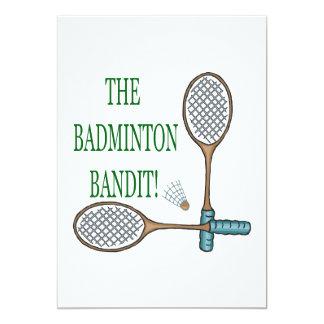 Badmintonbanditen 2 12,7 x 17,8 cm inbjudningskort