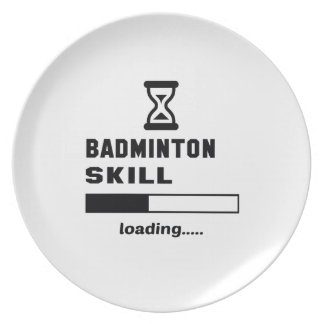 Badmintonexpertis som laddar ...... tallrik