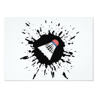 Badmintonexplosion 12,7 X 17,8 Cm Inbjudningskort
