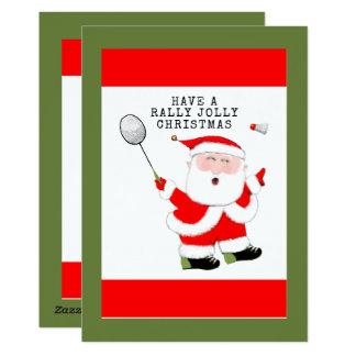 Badmintonjulkort 12,7 X 17,8 Cm Inbjudningskort
