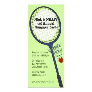 Badmintonparty/picknick 10,2 X 23,5 Cm Inbjudningskort