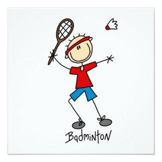 BadmintonspelareT-tröja och gåvor Fyrkantigt 13,3 Cm Inbjudningskort