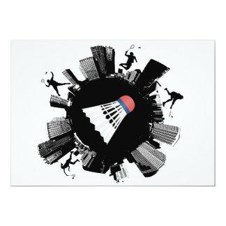 Badmintonstad 12,7 X 17,8 Cm Inbjudningskort