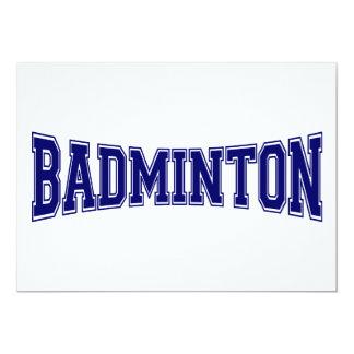 Badmintonuniversitetenstil 12,7 X 17,8 Cm Inbjudningskort