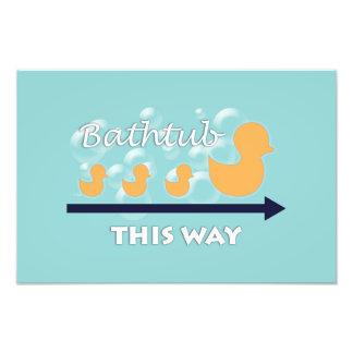 """Badrumväggkonst """"duckar i ett ro"""" - fototryck"""