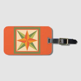Bagagemärkre - fasad stjärna (orangen) bagagebricka