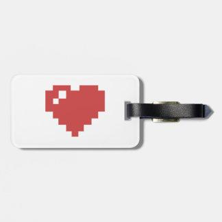bagagemärkre för hjärta 8BIT Bagagebricka