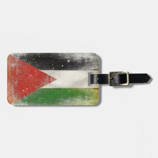 Bagagemärkre med bekymrad flagga från Palestina Bagagebricka