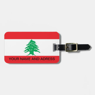 Bagagemärkre med flagga av Libanon Bagagebricka
