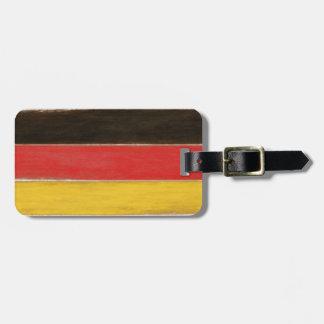 Bagagemärkre med kall bekymrad tysk flagga bagagebricka