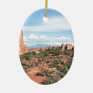 Bågar nationalpark, Utah, USA 2 Julgransprydnad Keramik