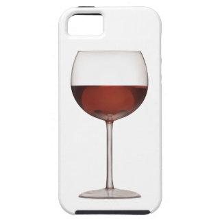 Bägare av rött vinkonst - fodral för iPhone 5 iPhone 5 Hud