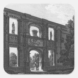 Båge av Gaillon, Musee des-monument Francais Fyrkantigt Klistermärke
