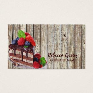 bageri för land för chokladtårta lantligt visitkort
