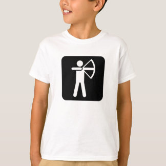 Bågskytte undertecknar t-shirts