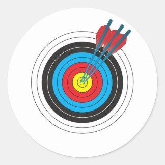 Bågskytte uppsätta som mål med pilar runt klistermärke