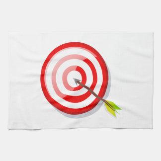 Bågskytte uppsätta som mål och pilen kökshandduk