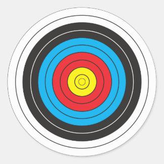 Bågskytte uppsätta som mål runt klistermärke