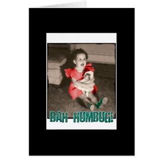 Bah Humbugjulkort - svart Hälsningskort