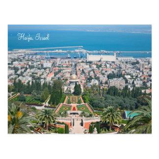 Bahá'í trädgårdar av Haifa, Israel Vykort