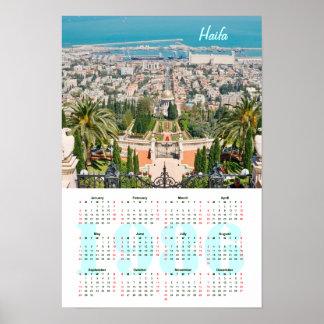 Bahá'í trädgårdar, Haifa. Kalender 1986