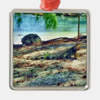 Bahama leguanprydnad julgransprydnad metall