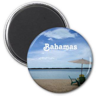 Bahama strand magnet rund 5.7 cm
