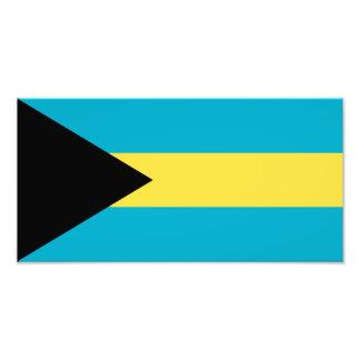 Bahamas flagga fototryck