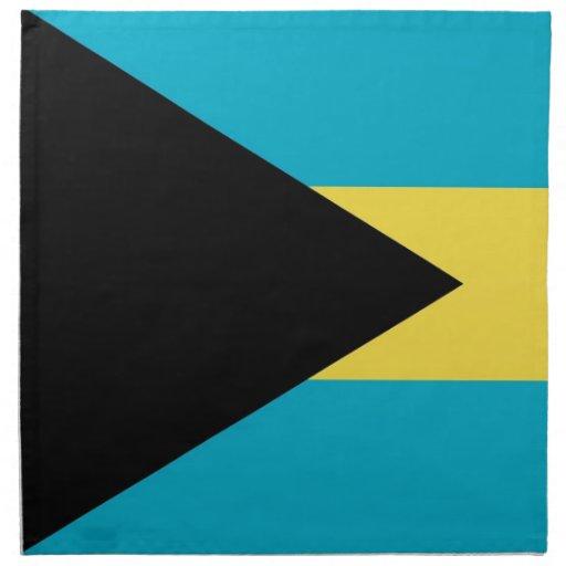 Bahamas flagga på den MoJo servetten Servetter Med Tryck