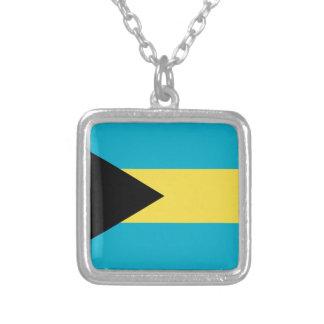 Bahamas flagga silverpläterat halsband