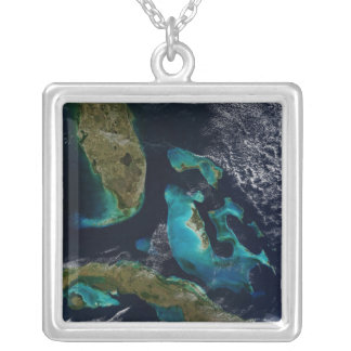 Bahamas, Florida och Kuba Silverpläterat Halsband