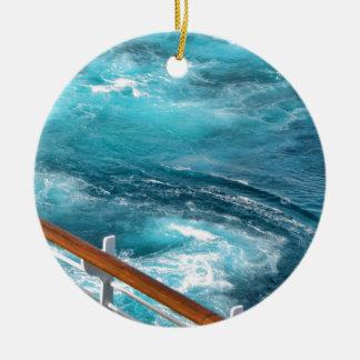Bahamas kryssning - turkosvak julgransprydnad keramik