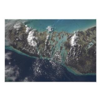 Bahamas nas den Andros ön 2 Fotografiskt Tryck