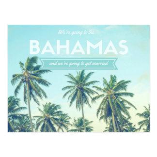 Bahamas som gifta sig den tropiska stranden, vykort