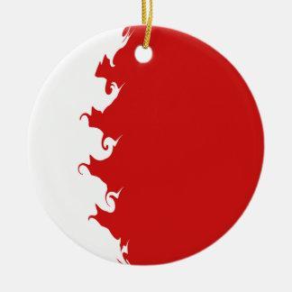 Bahrain Gnarly flagga Rund Julgransprydnad I Keramik