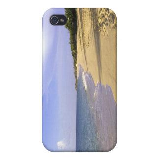 Baie Longue lång fjärdstrand, St Martin, iPhone 4 Cases