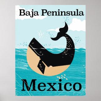 bajapeninsulan Mexico reser affischen Poster