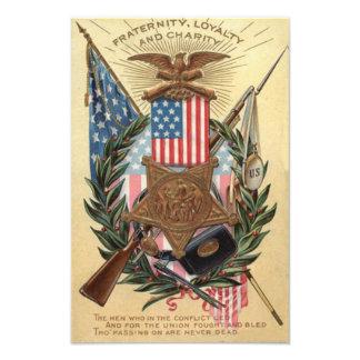 Bajonett för gevär för kran för US-flaggamedalj Fototryck