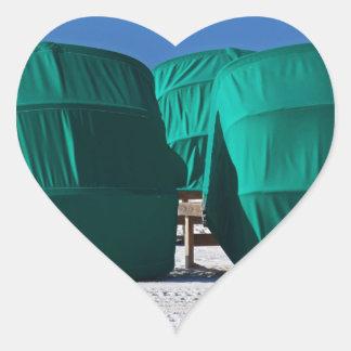 Bak--Platser Hjärtformat Klistermärke