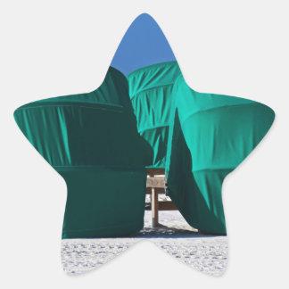 Bak--Platser Stjärnformat Klistermärke