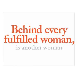 Bak varje fullgjord kvinna vykort