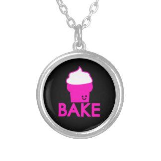 Baka - muffindesignen silverpläterat halsband